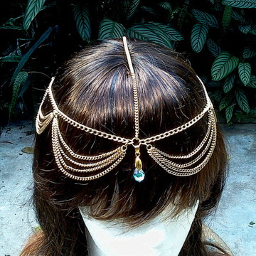 head chain gipsy tiara boho ondinhas