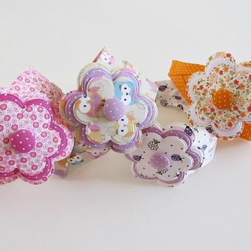 tiara faixa criança tecido adulto flor