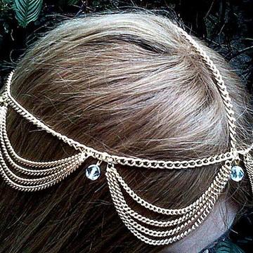 head chain tiara boho gipsy ondinhas