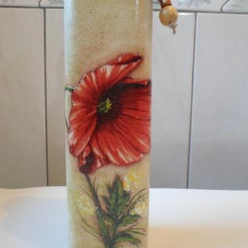 Garrafa decorada floral