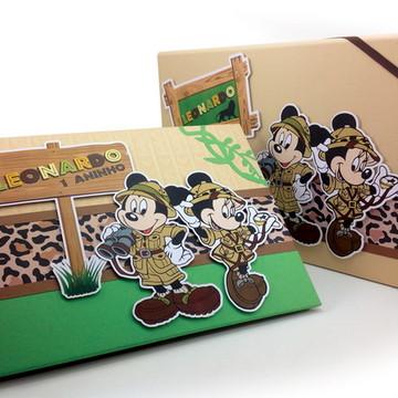 Álbum de fotos argolado Mickey Safari