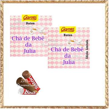 Rotulo Chocolate Baton Grávida