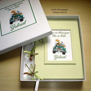 Livro de Mensagens para Maternidade ou Chá do Bebê
