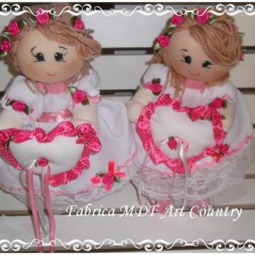Kit bonecas daminha tema pink