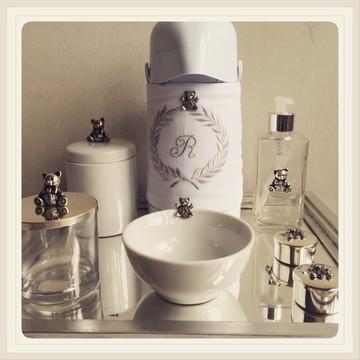 kit higiene prata ursinho 7 peças