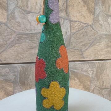 Garrafa decorativa rústica de areia