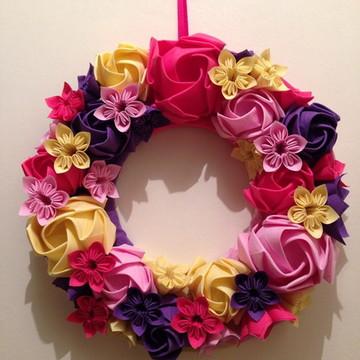Guirlanda Floral de tecido
