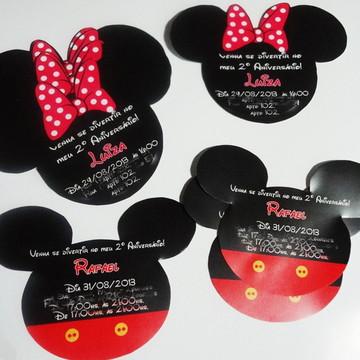 Convite Formato Orelha Mickey/Minnie
