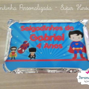 Marmitinha Personalizada SUPER HERÓIS