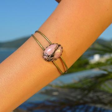 Bracelete Boho Rodonita