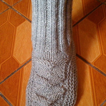 Meia de lã em trico masculina