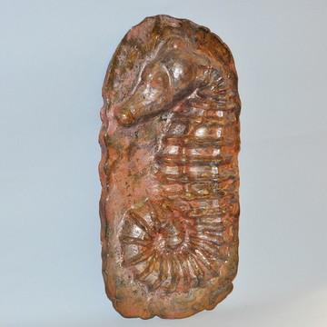 Fóssil Cavalo Marinho em cerâmica