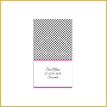 Calling Card - Poás Preto e Pink