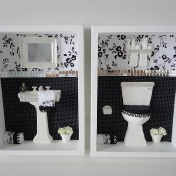 Quadros Banheiro ou Lavabo P B