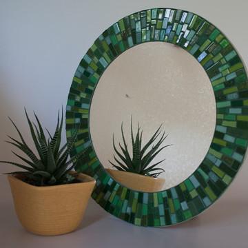 Espelho em mosaico Verde 40 cm