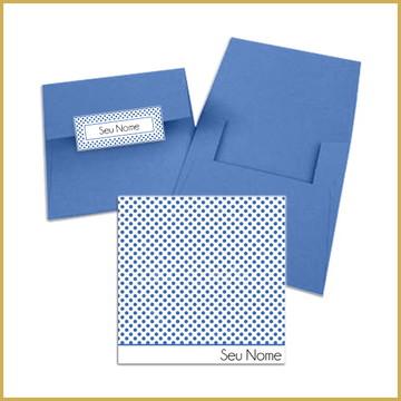 Cartão Quadrado - Poás Azul