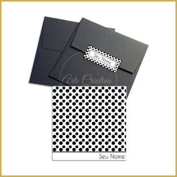 Cartão Quadrado - Poás Preto