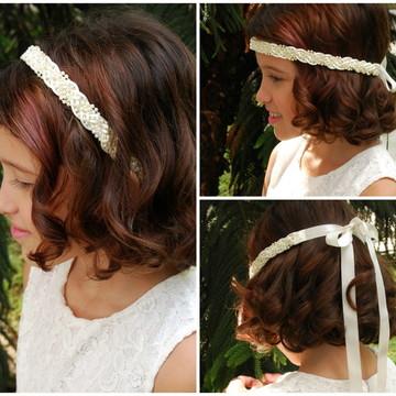 Headband de pérolas OFF WHITE DAMINHA
