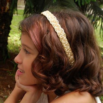 Headband NUDE com pérolas DAMINHA