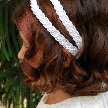 Headband branca ELSA dupla