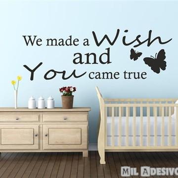 Adesivo de parede para quarto de bebê fiz um pedido e ...