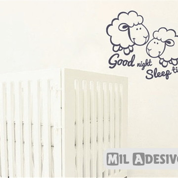 Adesivo de parede para quarto de neném carneirinhos