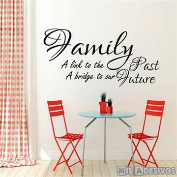 Adesivo de parede frase da família