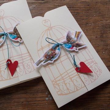 Convite Casamento Love Birds