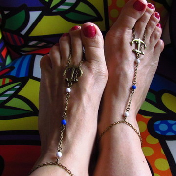 Sandálias descalça Âncora