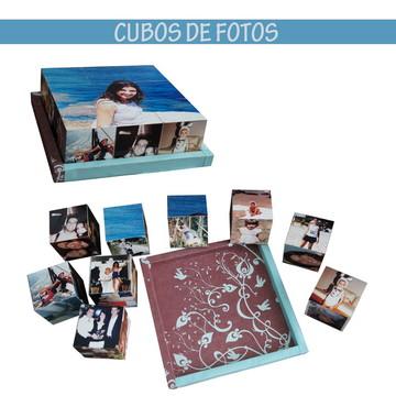 Jogo de cubos de mdf com fotos 8x8x8 base 29x29