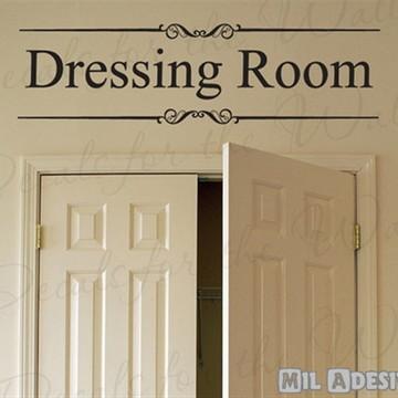 "Adesivo de parede ""Quarto de vestir"""