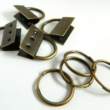 Ferragens para chaveiros ouro velho