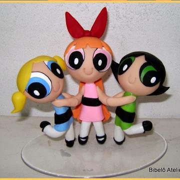 Meninas Super Poderosas- Enfeite de Bolo