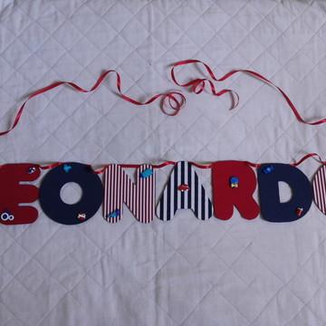 Bandeirolas-Varal Com Nome De Tecido