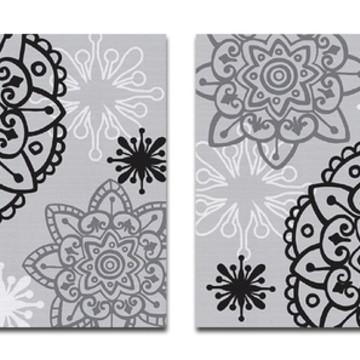 Quadro Pintura em Jg.Telas Floral Zen 60X60