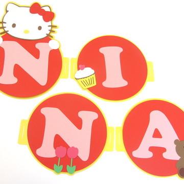 Bandeirola Hello Kitty - Scrap