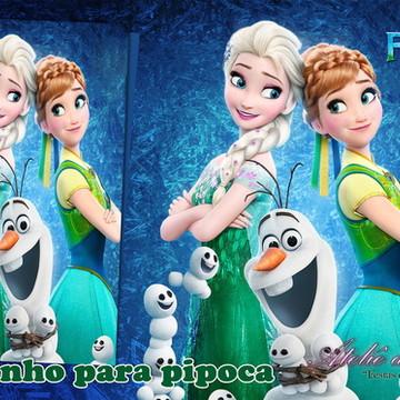 """Saquinho Para Pipoca - """"Frozen"""""""