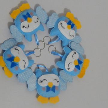 coruja azul menino