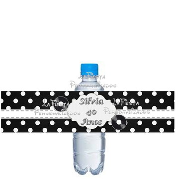 Rotulo para Agua Anos 60