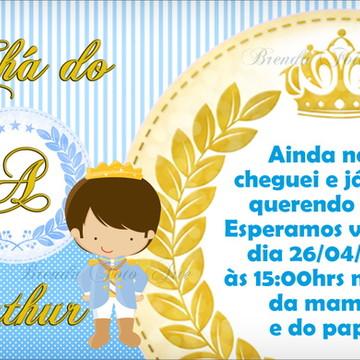 Convite Coroa Realeza Menino