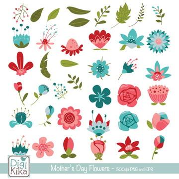 Clipart Flores Dia das Mães