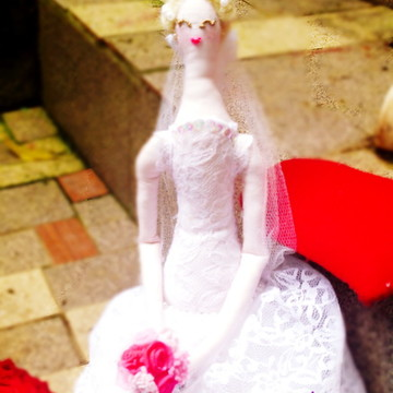 Boneca Noiva Estilo Tilda Articulada