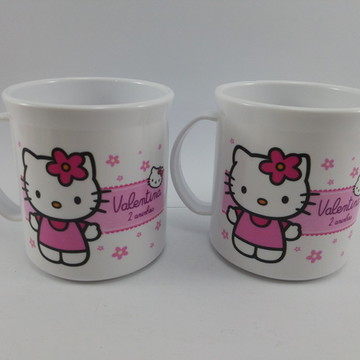 Caneca Plastica Hello Kitty