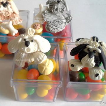 Lembrancinhas cachorrinhos biscuit