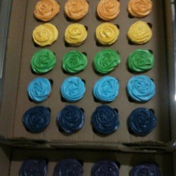 Cupcakes - Arco Íris