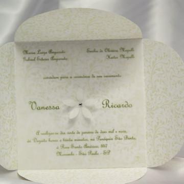 Convite de Casamento Flor Diversas Cores