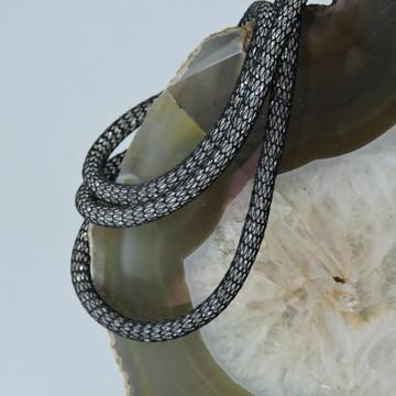 Colar feminino malha com cristais