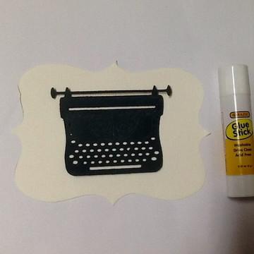 Recorte Máquina de escrever antiga