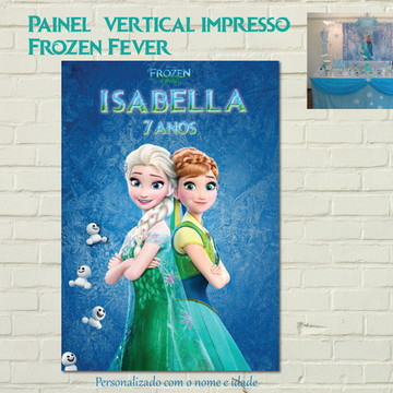 Painel FROZEN FEVER Impresso vertical
