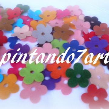 Flor de feltro nº 04 - pacote 50 peças